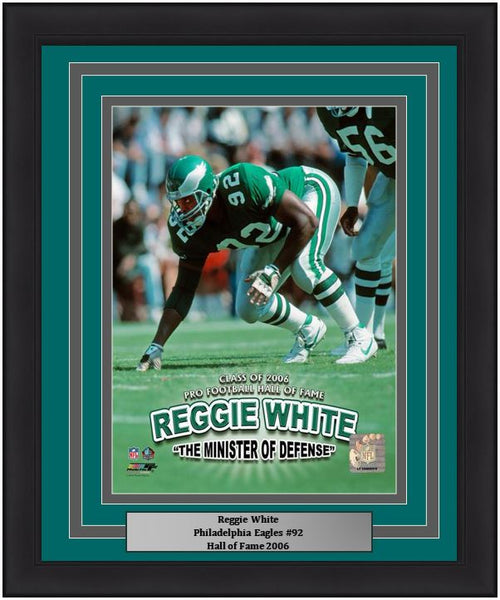 "Philadelphia Eagles Reggie White Minister of Defense NFL Football 8"" x 10"" Framed and Matted Photo"