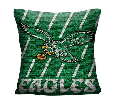 "Philadelphia Eagles Retro 20"" Jacquard Football Pillow"