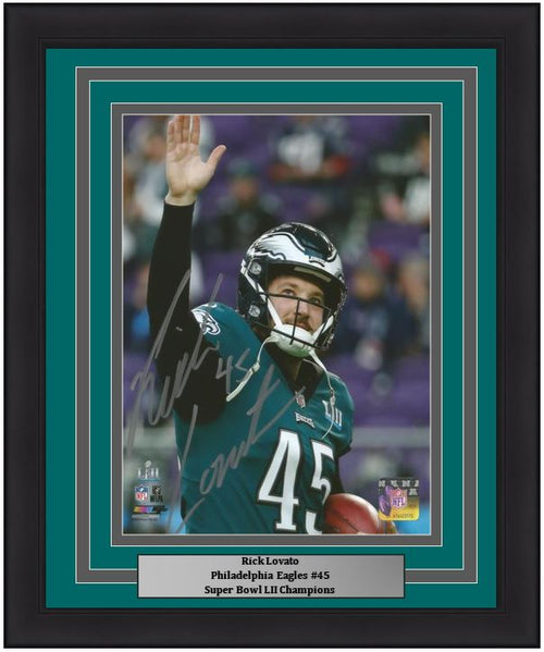 "Rick Lovato Autographed Philadelphia Eagles Super Bowl LII 8"" x 10"" Framed Football Photo - Dynasty Sports & Framing"