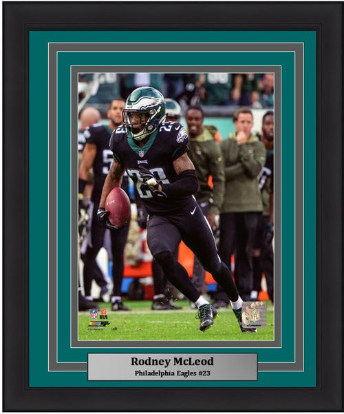 Rodney McLeod in Action Philadelphia Eagles NFL Football Framed and Matted Photo - Dynasty Sports & Framing