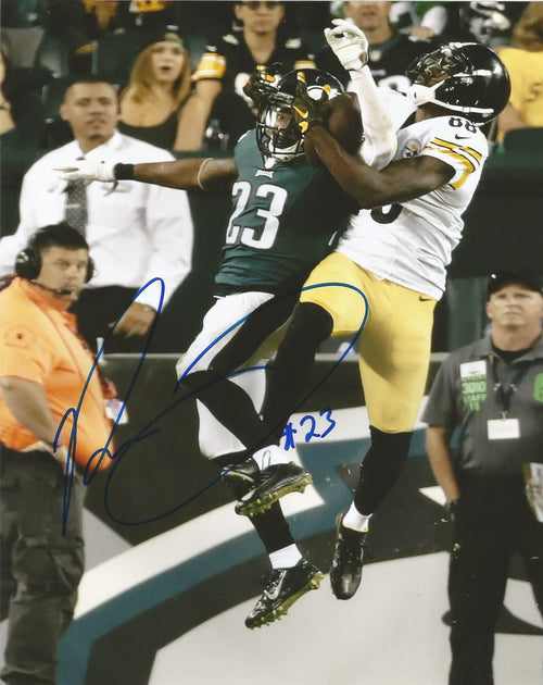 Rodney McLeod Philadelphia Eagles Autographed Photo (v. Steelers) - Dynasty Sports & Framing  - 1