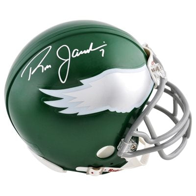 Ron Jaworski Philadelphia Eagles Autographed NFL Football Throwback Mini-Helmet - Dynasty Sports & Framing