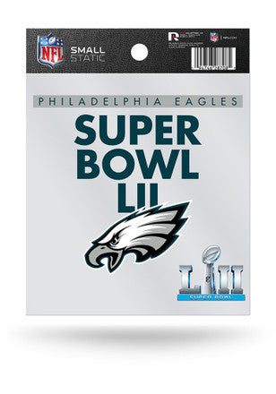 Philadelphia Eagles Super Bowl LII Small Auto Static Cling