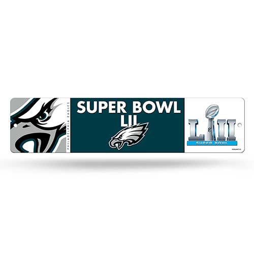 "Philadelphia Eagles Super Bowl LII 3.75"" x 19"" Street Sign"