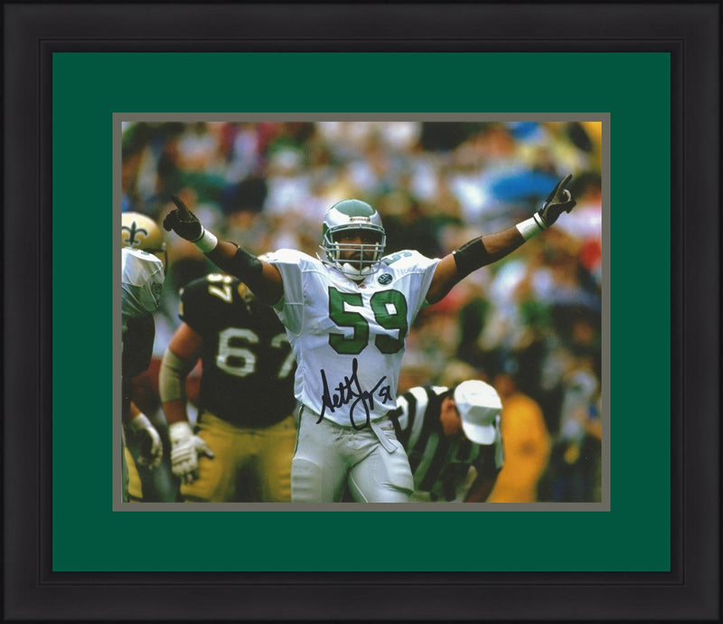 "Seth Joyner Philadelphia Eagles Celebration Autographed 8"" x 10"" Framed and Matted Photo - Dynasty Sports & Framing"