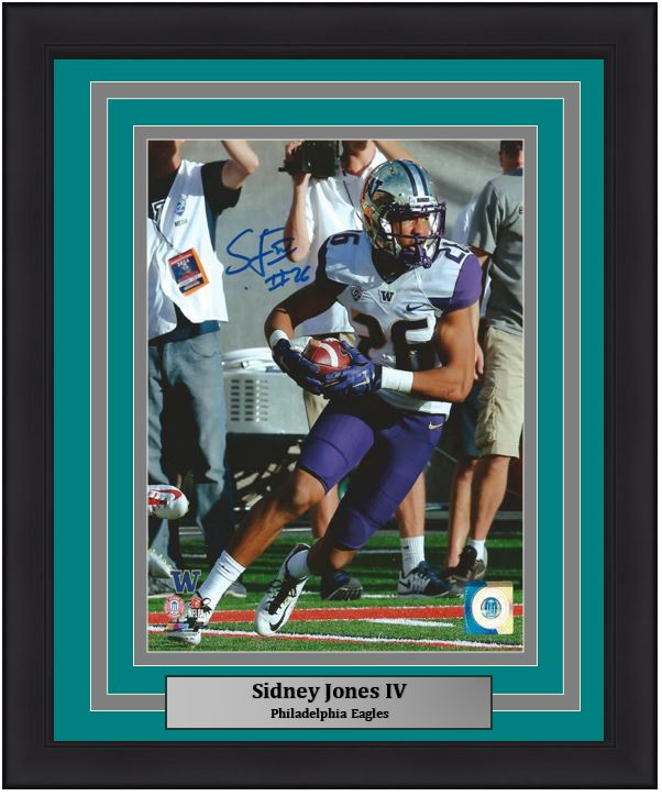 Philadelphia Eagles Sidney Jones Autographed NCAA College Football 8x10 Framed and Matted Photo (Eagles Matting)