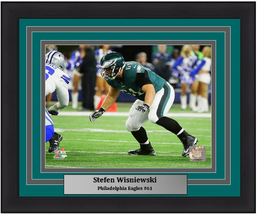 "Philadelphia Eagles Stefen Wisniewski NFL Football 8"" x 10"" Framed and Matted Photo"