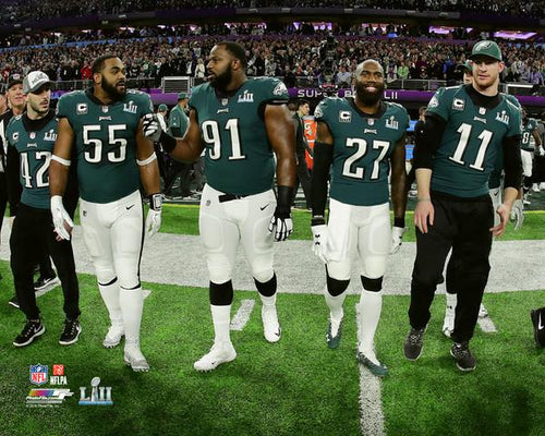 "Philadelphia Eagles Super Bowl LII Gameday Captains (Maragos, Graham, Cox, Jenkins, Wentz) NFL Football 8"" x 10"" Photo"