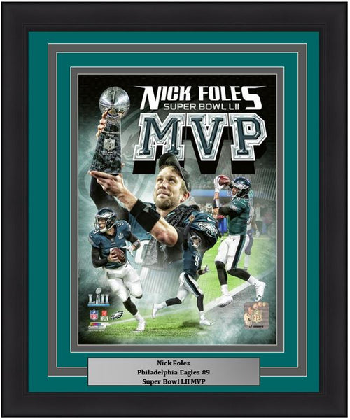 "Nick Foles Super Bowl LII MVP Collage Philadelphia Eagles 8"" x 10"" Framed Football Photo - Dynasty Sports & Framing"