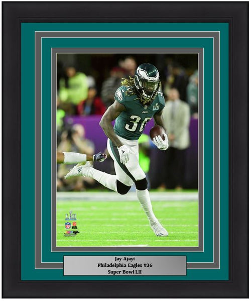 Jay Ajayi Super Bowl LII Philadelphia Eagles NFL Football Framed and Matted Photo