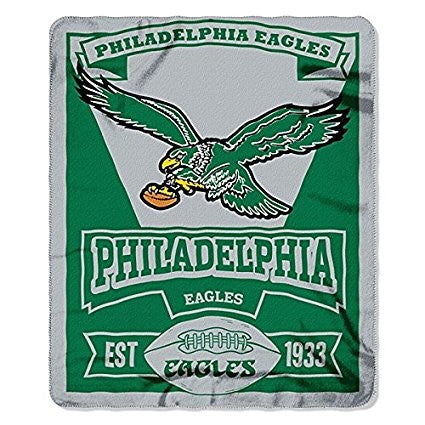 "Philadelphia Eagles Vintage NFL Football 50"" x 60"" Marquee Fleece Blanket - Dynasty Sports & Framing"