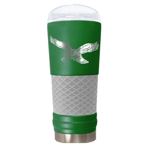 "Philadelphia Eagles Throwback ""The Draft"" 24 oz. Stainless Steel Travel Tumbler - Dynasty Sports & Framing"