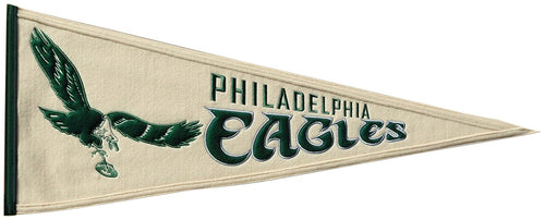 Philadelphia Eagles NFL Football Throwback Pennant