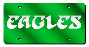 Philadelphia Eagles Retro NFL Laser Cut License Plate