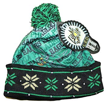 Philadelphia Eagles Throwback Light Up Knit Beanie Hat  097b6dfb276