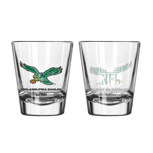 Philadelphia Eagles Retro NFL Football Shot Glass - Dynasty Sports & Framing