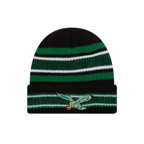 Philadelphia Eagles NFL Football New Era Striped Cuffed Knit Hat