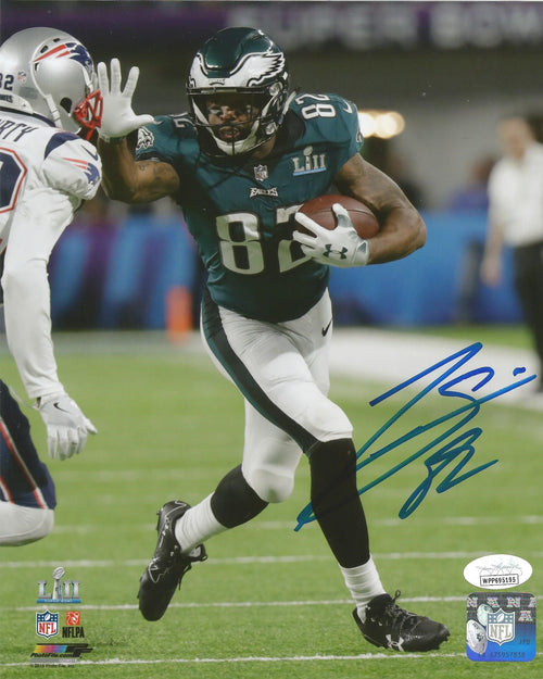 Torrey Smith Super Bowl LII Philadelphia Eagles Autographed Photo - Dynasty Sports & Framing