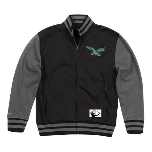 Philadelphia Eagles Mitchell & Ness NFL Football Varsity Fleece Jacket - Dynasty Sports & Framing