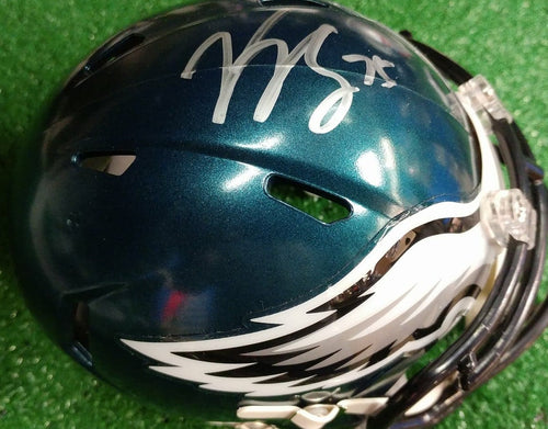 Philadelphia Eagles Vinny Curry Autographed NFL Football Mini-Helmet