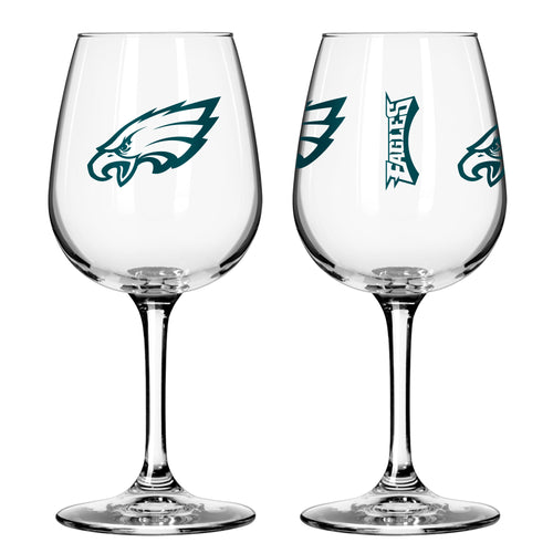 Philadelphia Eagles 12 oz. Football Wine Glass - Dynasty Sports & Framing