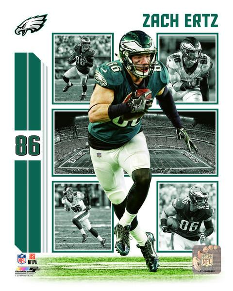 "Zach Ertz Player Collage Philadelphia Eagles NFL Football 8"" x 10"" Photo"