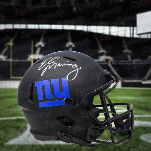 Eli Manning New York Giants Autographed NFL Football Eclipse Alternate Speed Helmet - Dynasty Sports & Framing