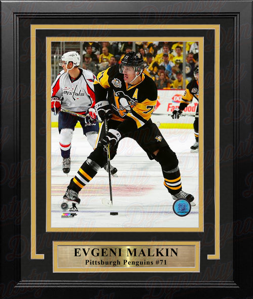 "Evgeni Malkin in Action Pittsburgh Penguins 8"" x 10"" Framed Hockey Photo - Dynasty Sports & Framing"