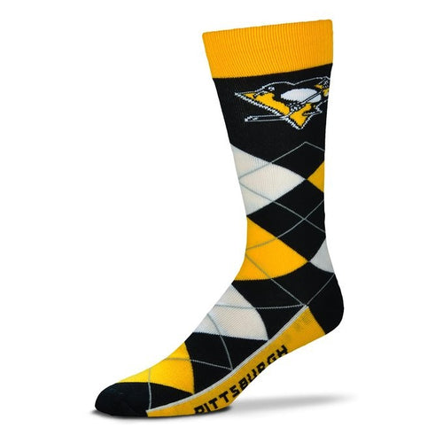 Pittsburgh Penguins Men's NHL Hockey Argyle Lineup Socks - Dynasty Sports & Framing
