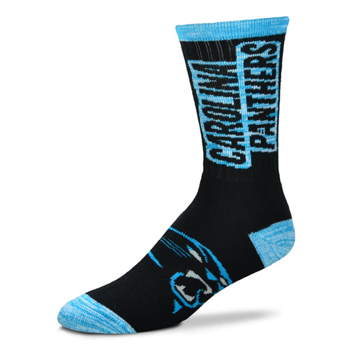 Carolina Panthers Men's NFL Football Crush Logo Socks - Dynasty Sports & Framing