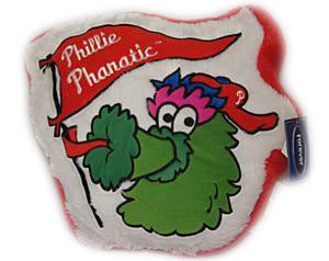 "Philadelphia Phillies Phanatic 14"" Plush Baseball Pillow"