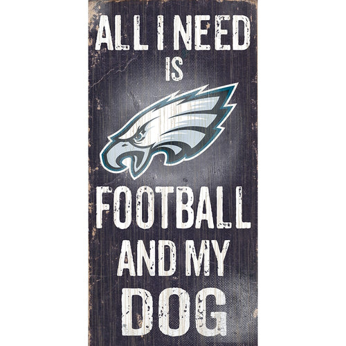 Philadelphia Eagles Football and My Dog Wooden Sign - Dynasty Sports & Framing