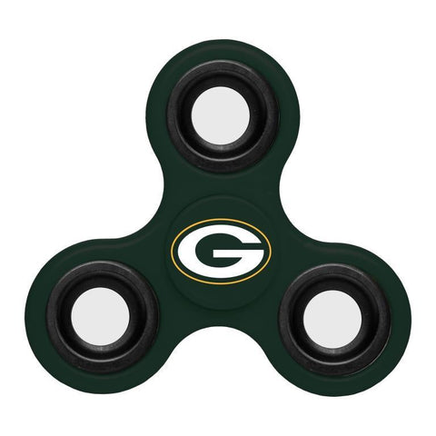 Green Bay Packers NFL Three Way Team Diztracto Spinner (Spinnerz)