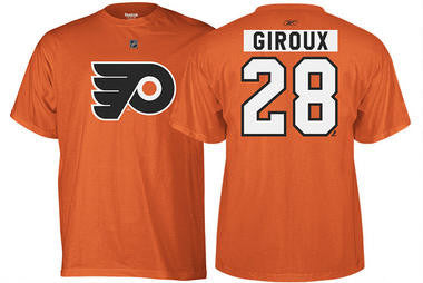 Claude Giroux Philadelphia Flyers Reebok Team Name & Number T-Shirt - Dynasty Sports & Framing