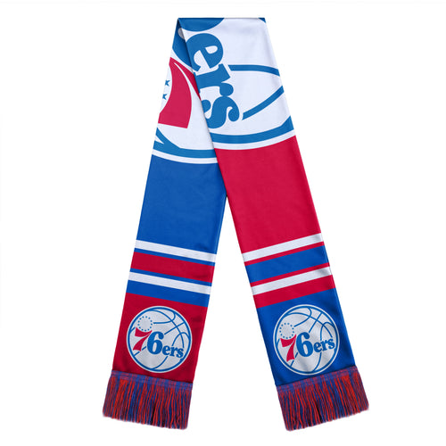 Philadelphia 76ers NBA Basketball Color Block Big Logo Scarf - Dynasty Sports & Framing