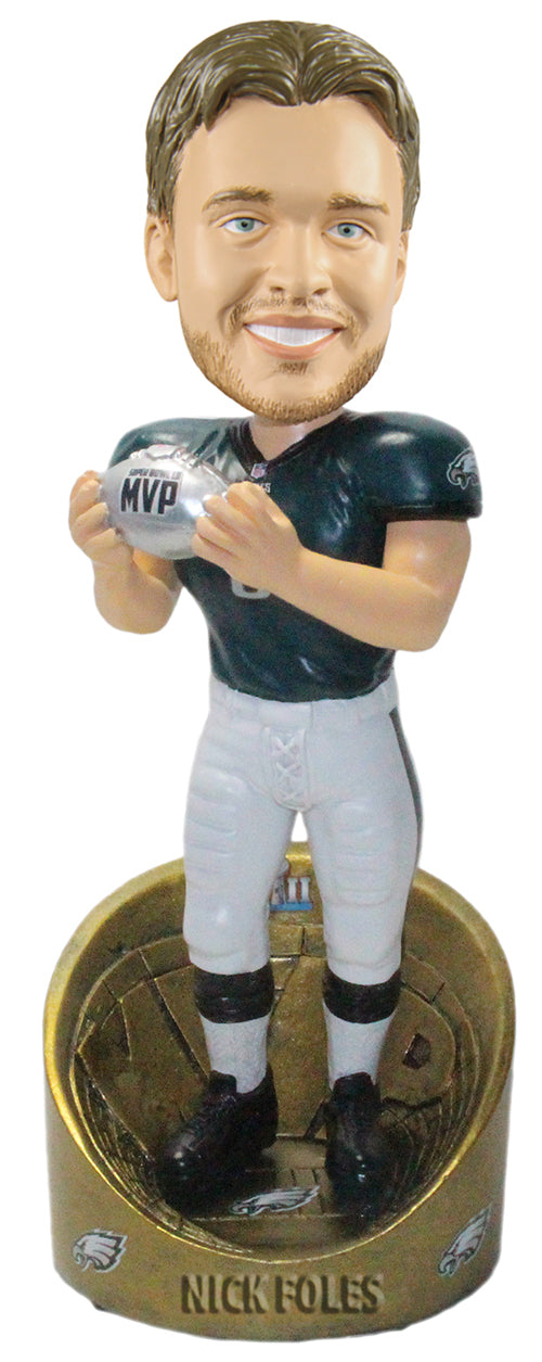 Nick Foles Philadelphia Eagles Super Bowl LII Champions MVP Bobblehead - Dynasty Sports & Framing