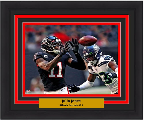 "Julio Jones Close-Up Catch Atlanta Falcons 8"" x 10"" Framed Football Photo - Dynasty Sports & Framing"
