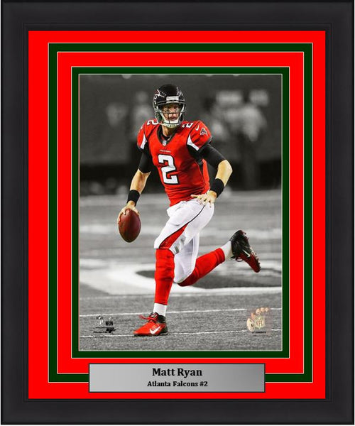 "Atlanta Falcons Matt Ryan NFL Football 8"" x 10"" Framed & Matted Photo - Dynasty Sports & Framing"