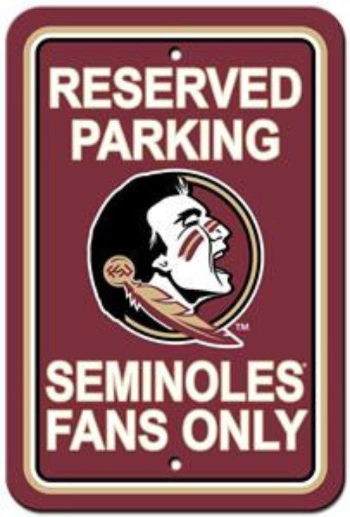 Florida State Seminoles NCAA College Parking Sign - Dynasty Sports & Framing