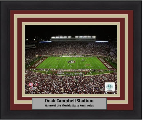 "Florida State Seminoles Doak Campbell Stadium NCAA College Football 8"" x 10"" Framed and Matted Photo - Dynasty Sports & Framing"