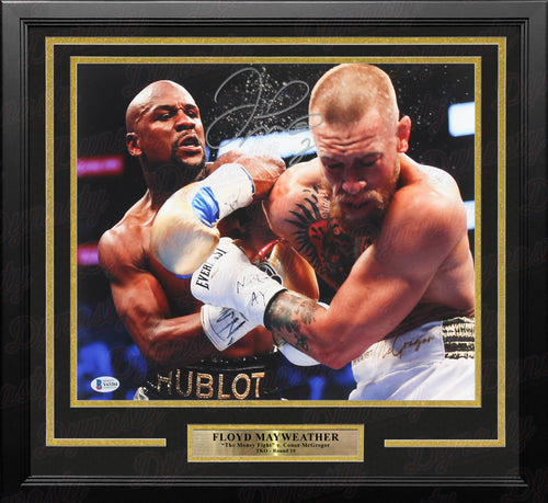 "Floyd Mayweather v. McGregor Autographed 11"" x 14"" Framed Boxing Photo - Dynasty Sports & Framing"