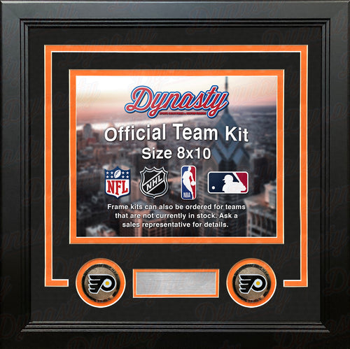 Philadelphia Flyers NHL Hockey Photo Picture Frame (Black Matting, Orange Trim) - Dynasty Sports & Framing