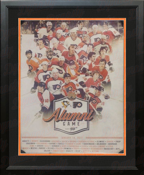 Philadelphia Flyers 2017 Alumni Game Limited Edition NHL Hockey Framed Team Poster - Dynasty Sports & Framing