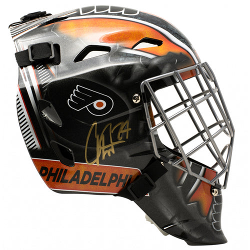 Carter Hart Philadelphia Flyers Autographed NHL Hockey Goalie Mini-Mask
