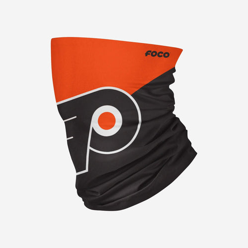 Philadelphia Flyers Colorblock Big Logo Gaiter Scarf - Dynasty Sports & Framing