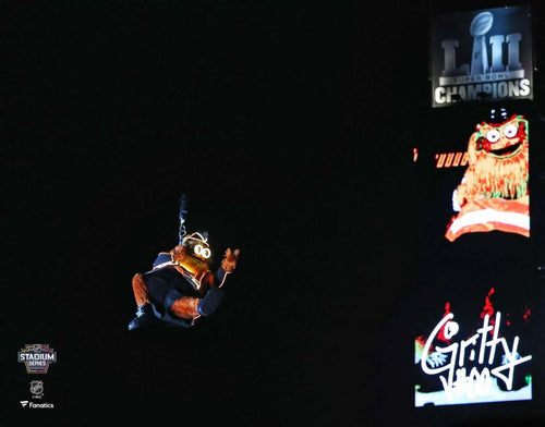 "Gritty 2019 Stadium Series Zipline Philadelphia Flyers 8"" x 10"" Hockey Photo - Dynasty Sports & Framing"