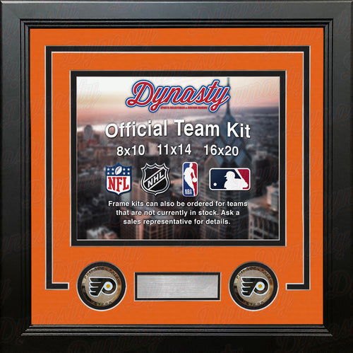 Philadelphia Flyers NHL Hockey Photo Picture Frame (Orange Matting, Black Trim) - Dynasty Sports & Framing