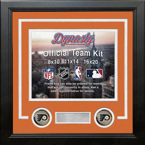 Philadelphia Flyers NHL Hockey Photo Picture Frame (Orange Matting, White Trim) - Dynasty Sports & Framing