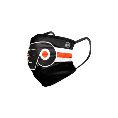 Philadelphia Flyers Stripe Big Logo Pleated Face Cover Mask - Dynasty Sports & Framing