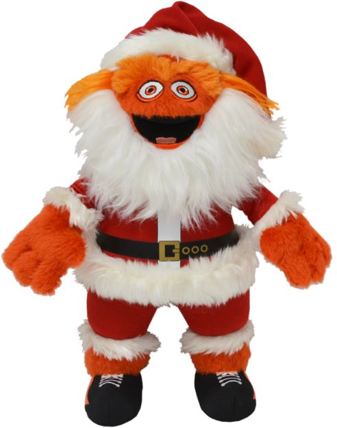 Gritty Santa Philadelphia Flyers Christmas Plush Figure